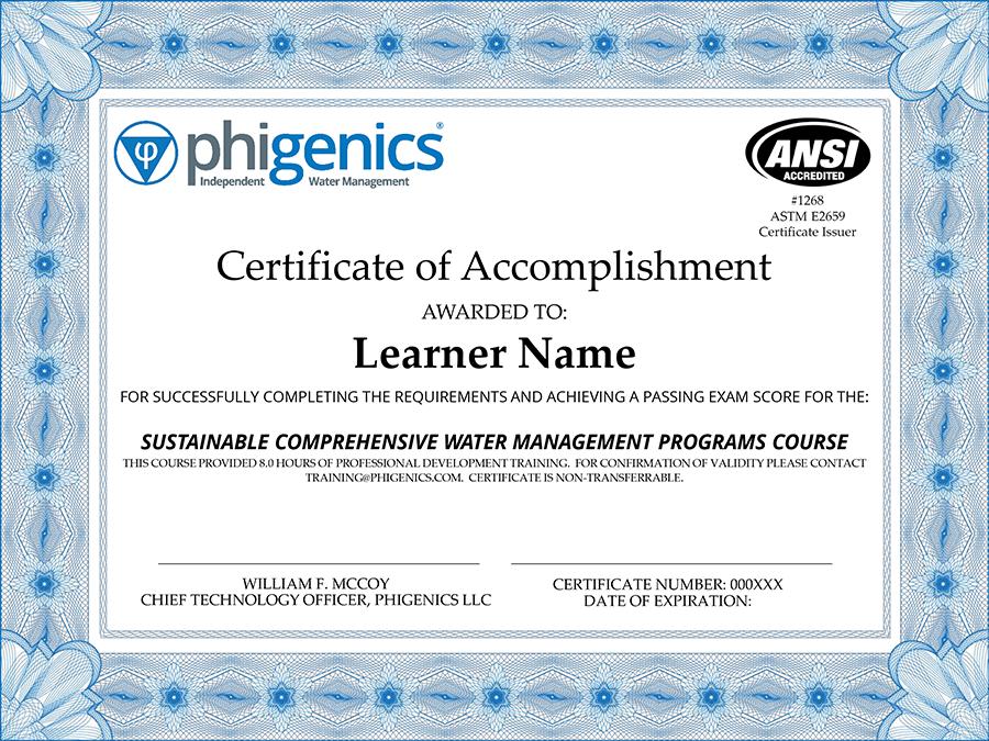 Phigenics Course Certificate