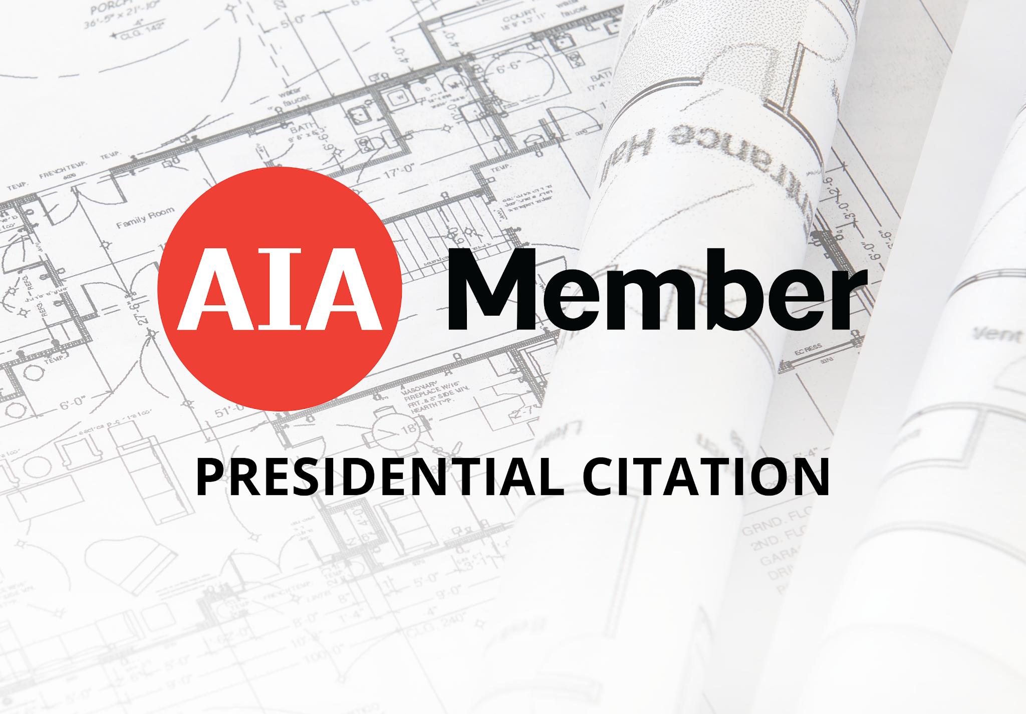 AIA Presidential Citation - Dr .Molly M. Scanlon PR